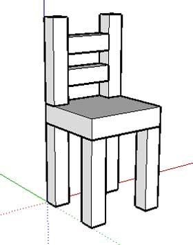 Observer un objet for Chaise 3d dessin